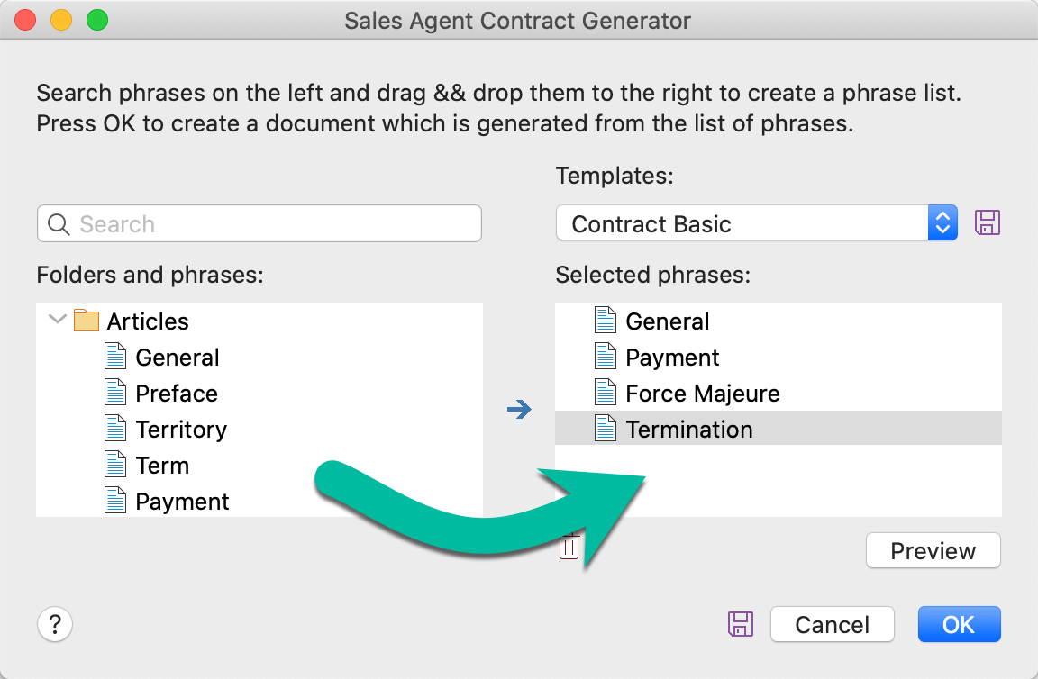 Create entire documents based on a